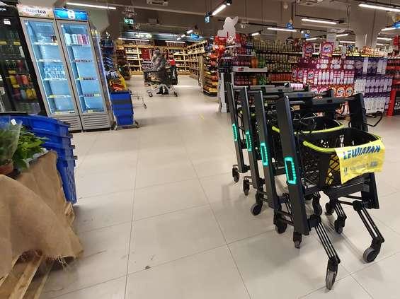 Do Lewiatana wjeżdżają inteligentne wózki zakupowe