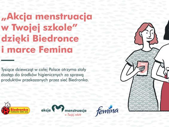Biedronka przekazuje środki menstruacyjne