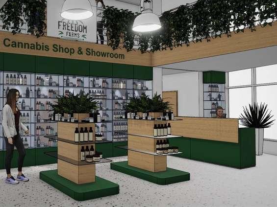 Pierwszy w Polsce sklep z pokazową uprawą konopi [WIZUALIZACJA]