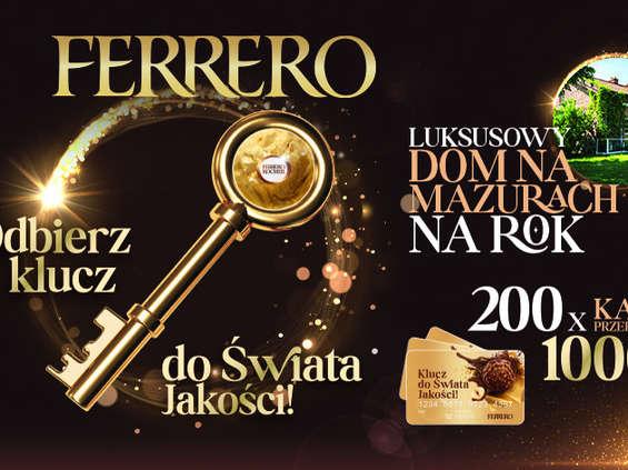 """Loteria Ferrero """"Odbierz klucz do świata jakości"""""""